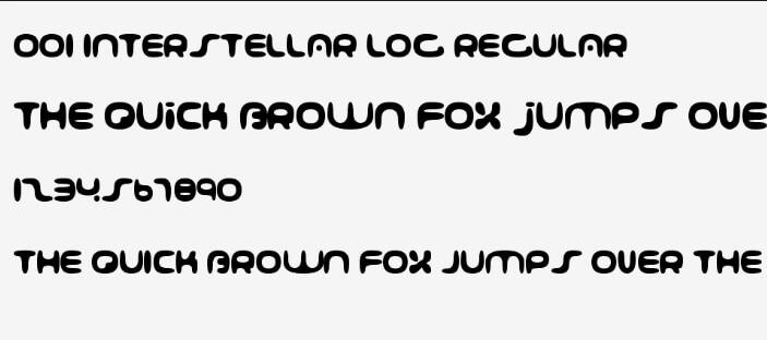 Interstellar Log Regular Font - Download Free in Ttf, Otf