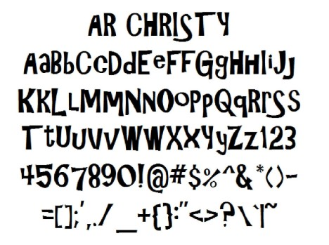 AR Christy Regular Font - Download Free in Ttf, Otf & Zip Format