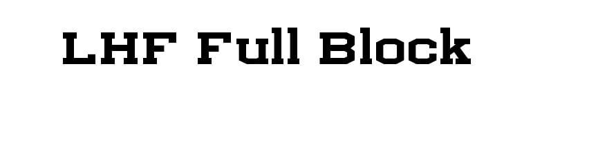 Download Lhf Full Block Font Free Download