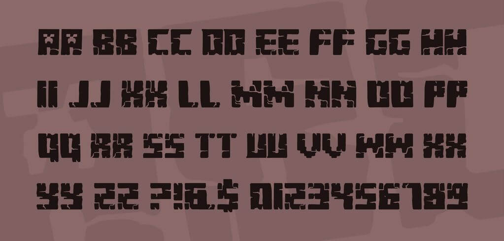 Minecraft Evenings Font Download Free in Ttf Otf Zip